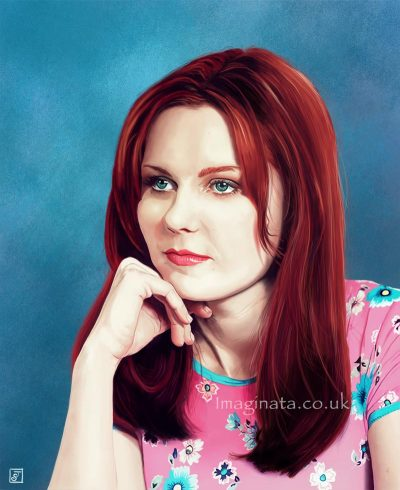 'Kirsten Dunst (Mary Jane)' - Digital Painting