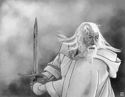'Gandalf the White' - Digital Painting