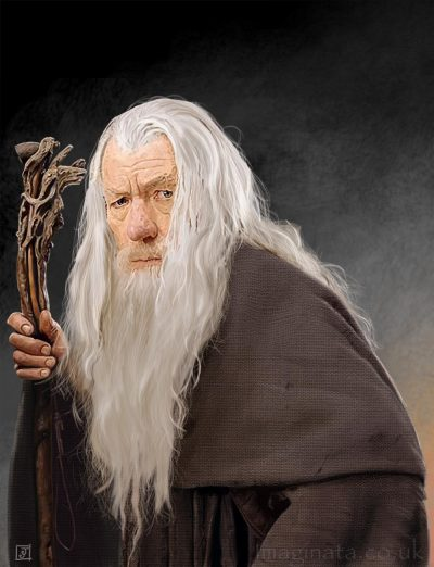 'Gandalf (Sir Ian McKellen)' - Digital Painting
