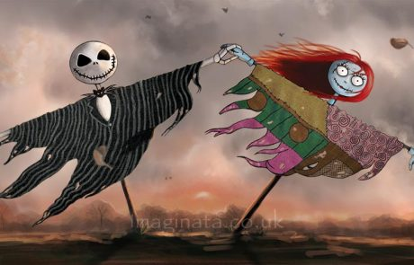 'Jack and Sally Scarecrows' - Digital Painting