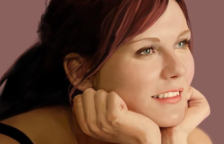 'Kirsten Dunst 2 (Mary Jane)' - Digital Painting