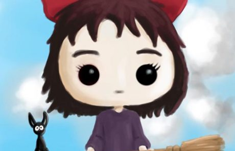 'Kiki & Jiji (Kiki's Delivery Service) Pop Vinyl' - Digital Painting
