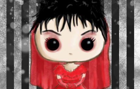 'Lydia Pop Vinyl - Red' - Digital Painting