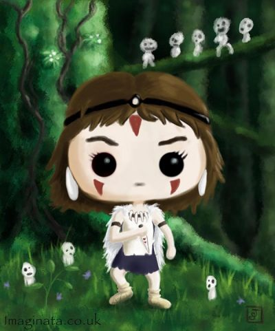 'San (Princess Mononoke) Pop Vinyl' - Digital Painting