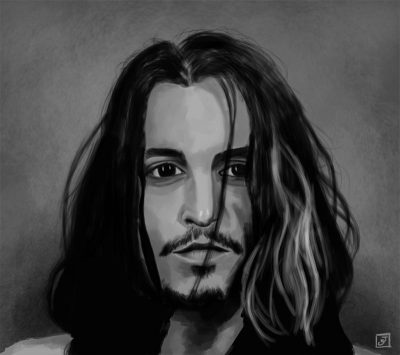 '10 Portrait Challenge 2 - Johnny Depp' - Digital Painting