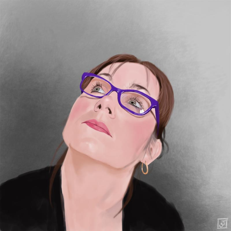 '10 Portrait Challenge 5 - Debs' - Digital Painting