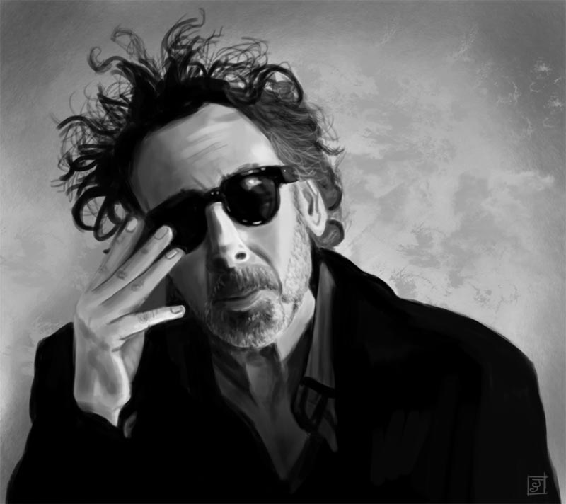 '10 Portrait Challenge 7 - Tim Burton' - Digital Painting