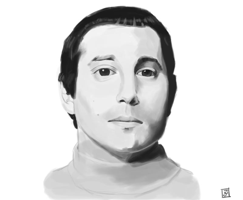 '10 Portrait Challenge 8 - Paul Simon' - Digital Painting