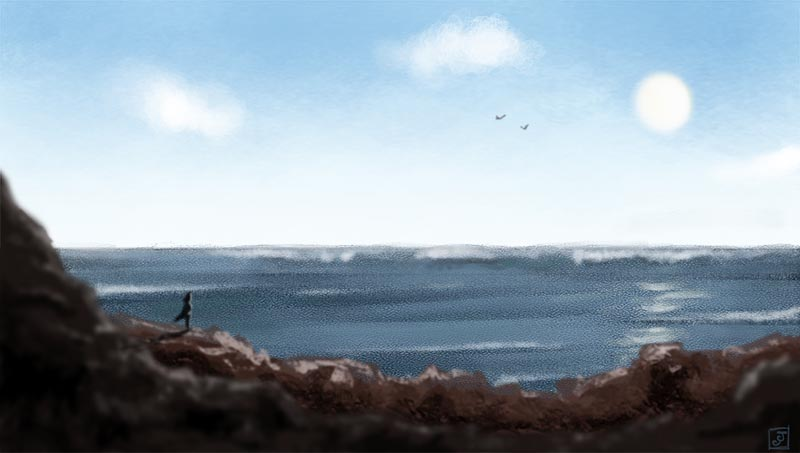 '21 Day Challenge - Landscapes - Day 8' - Digital Painting