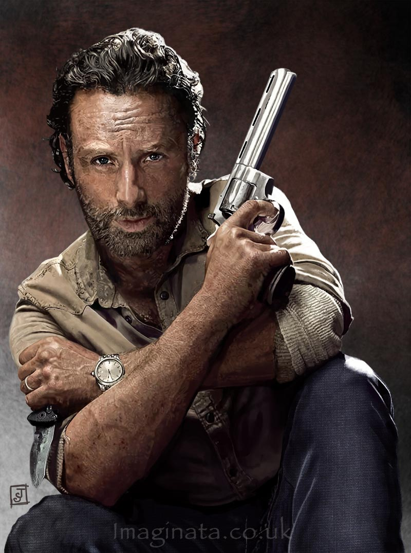 'Rick Grimes (Andrew Lincoln)' - Digital Painting
