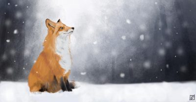 '10 Day Challenge - Animals Day 1 - Fox' - Digital Painting