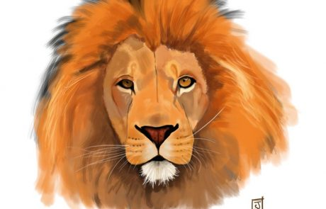 '10 Day Challenge - Animals Day 3 - Lion' - Digital Painting